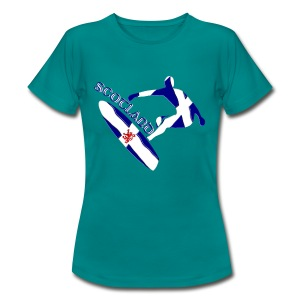 Scotland surf and snow boarder - Women's T-Shirt