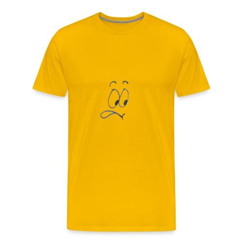 Smiley entsetzt - Produktname - Männer Premium T-Shirt
