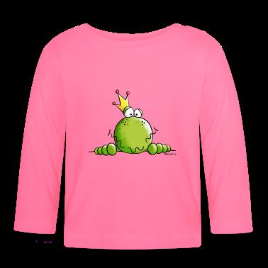 frosch mit krone baby langarmshirts baby langarmshirt spreadshirt. Black Bedroom Furniture Sets. Home Design Ideas
