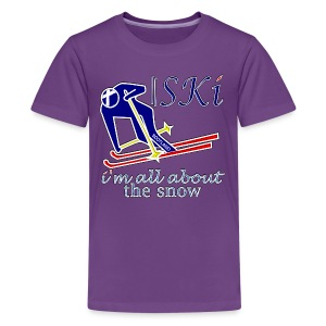 Scotland skiing all about the snow teen's - Teenage Premium T-Shirt