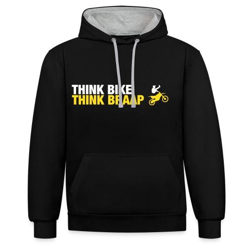 Think Braap Premium Hoodie - Contrast Colour Hoodie
