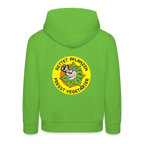 Kinder Premium Kaputzenpulli / Hoodie Rettet Pflanzen - fresst Vegetarier  verschiedene Farben - Kinder Premium Hoodie