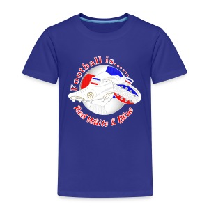 Football is red white and blue soccer kid's t-shirt - Kids' Premium T-Shirt