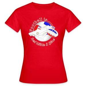 Football is red white and blue soccer women's t-shirt - Women's T-Shirt
