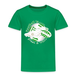 Football is green and white soccer kid's t-shirt - Kids' Premium T-Shirt