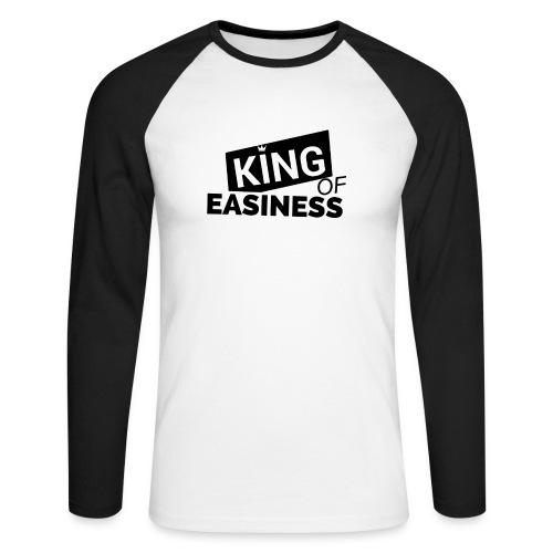 King of Easiness Sportjacke - Männer Baseballshirt langarm