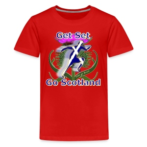 Scotland get set go runner teen's t-shirt - Teenage Premium T-Shirt