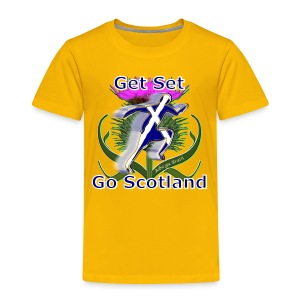 Scotland get set go runner kid's t-shirt - Kids' Premium T-Shirt
