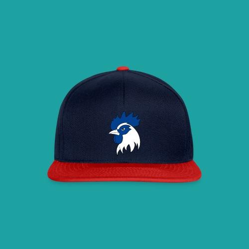 casquette coqbleu bleu rouge - Casquette snapback