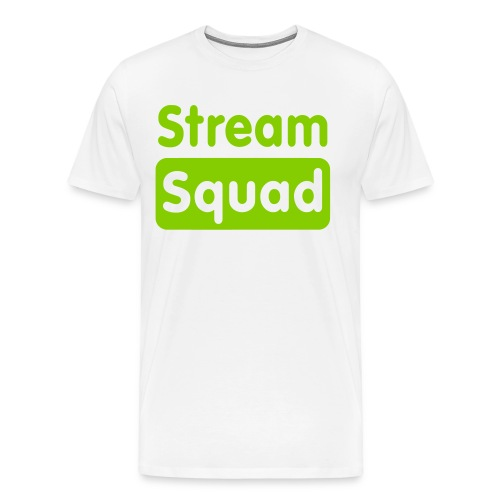 Stream Squad White & Green - Men's Premium T-Shirt