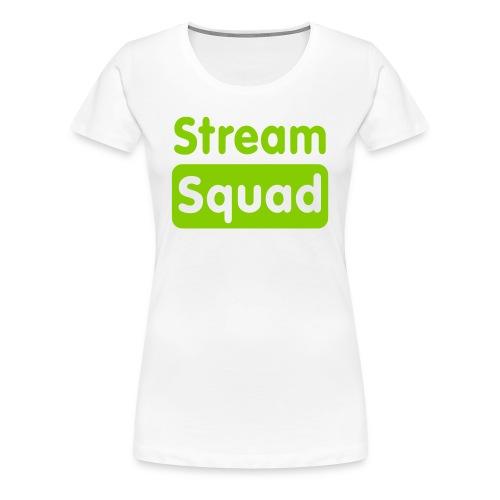 Stream Squad White & Green - Women's Premium T-Shirt