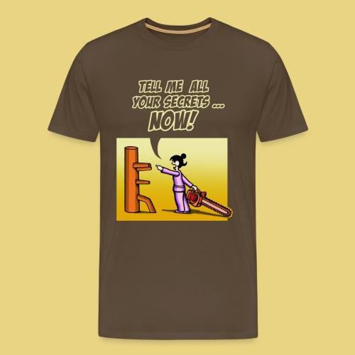 chainsaw dummy 2016 yellow - Men's Premium T-Shirt