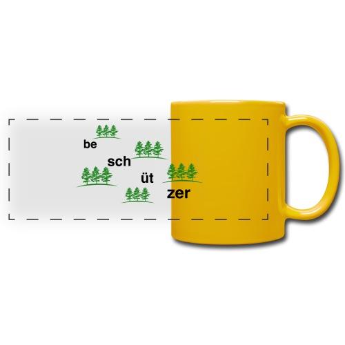 Wald Beschützer Tasse - Panoramatasse farbig
