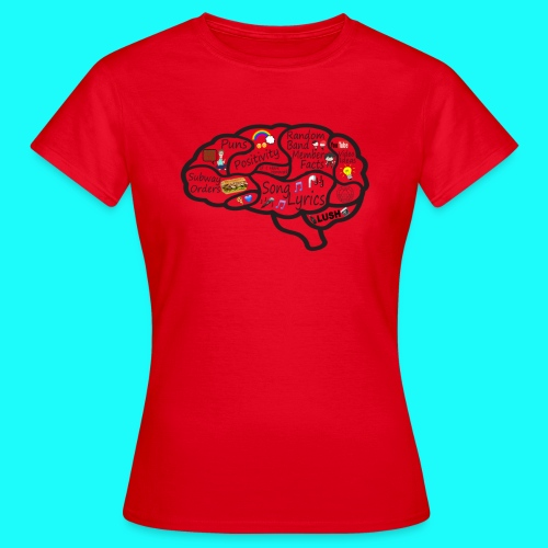 My Brain T-Shirt Womens DO NOT CHOOSE BLACK - Women's T-Shirt