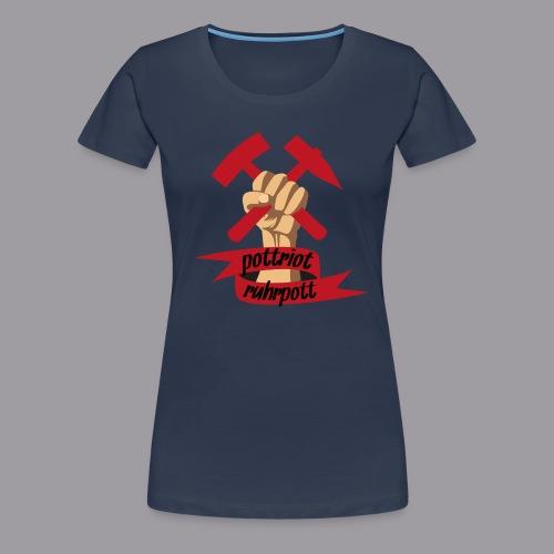 Pottriot Navy Damen - Frauen Premium T-Shirt