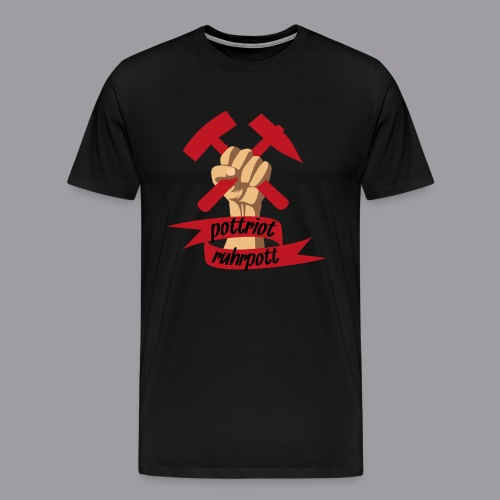 Pottriot Schwarz Herren - Männer Premium T-Shirt