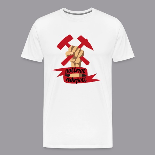 Pottriot Weiß Herren - Männer Premium T-Shirt