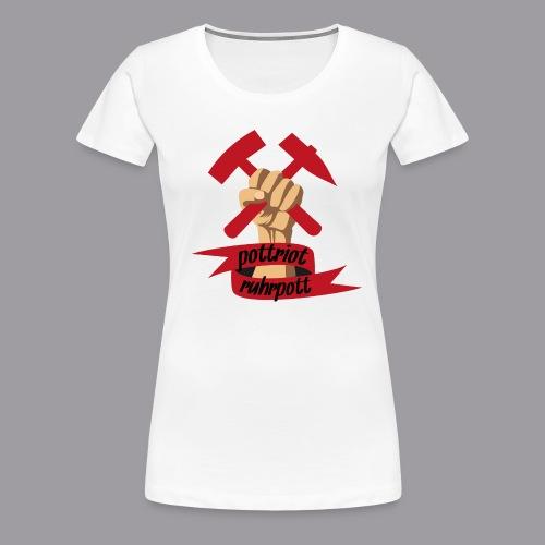 Pottriot Weiß Damen - Frauen Premium T-Shirt