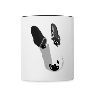 Adorable English Bull Terrier Graphic   - Contrasting Mug