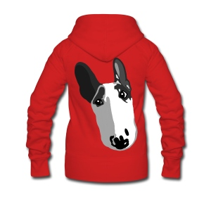 Adorable English Bull Terrier Graphic  - Women's Premium Hooded Jacket