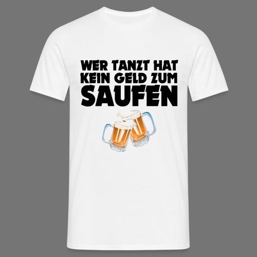 Saufen T-Shirt Weiß - Männer T-Shirt