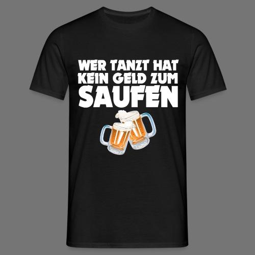 Saufen T-Shirt Schwarz - Männer T-Shirt