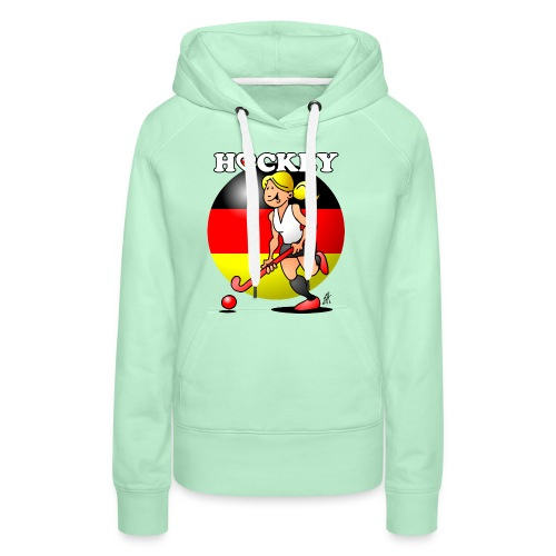 Hockey dam av det tyska landslaget. Tröjor - Women's Premium Hoodie