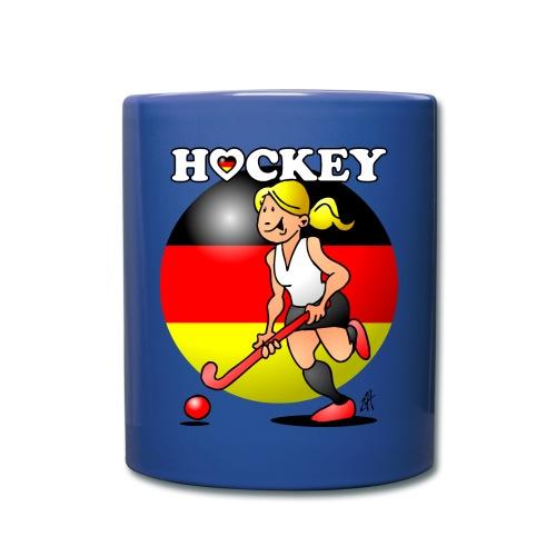 Hockey dam av det tyska landslaget. Muggar & tillbehör - Full Colour Mug