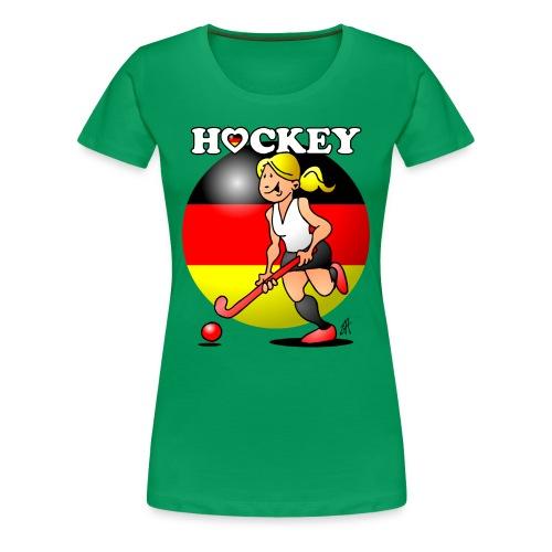 Hockey dam av det tyska landslaget. T-shirts - Women's Premium T-Shirt