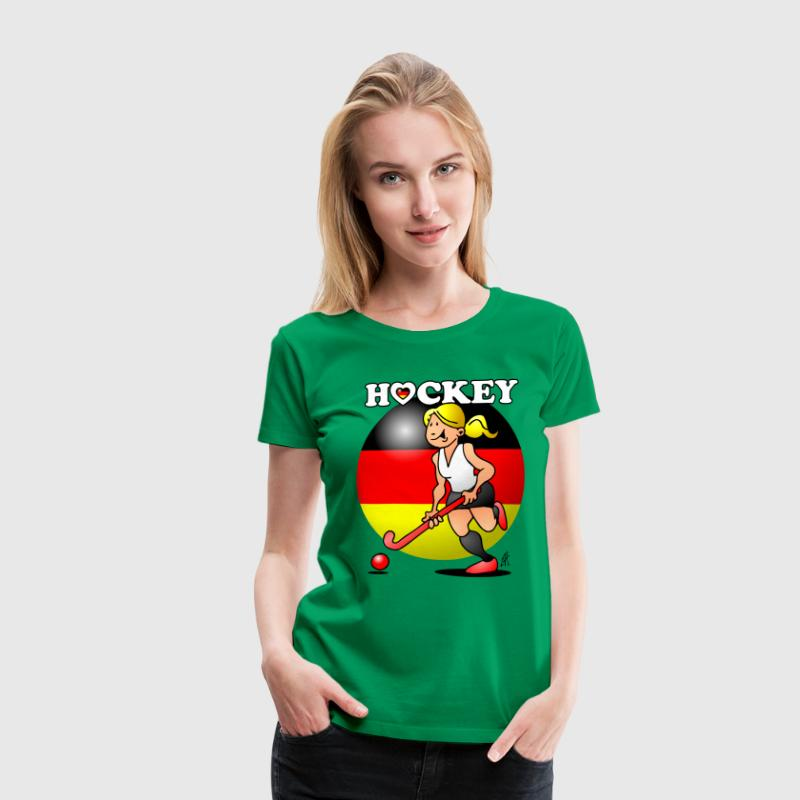 Hockey lady of the German field hockey team. T-Shirts - Women's Premium T-Shirt