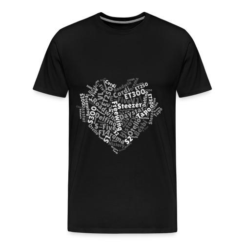 Daelim Modelle in Herzform auf TShirt (Grau) - Männer Premium T-Shirt