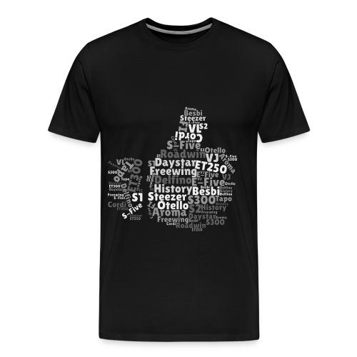 Daelim Modelle in Like-Form auf TShirt (Grau) - Männer Premium T-Shirt