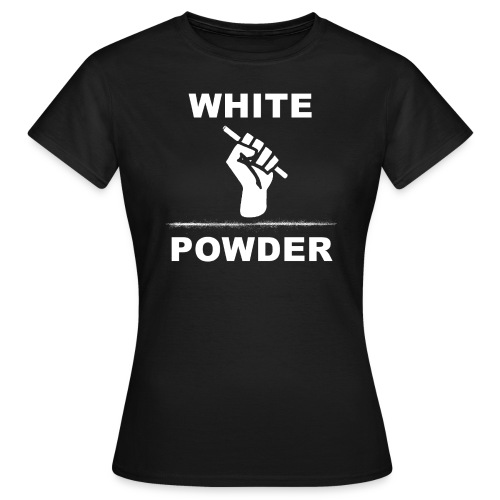 White Powder Girlyshirt - Frauen T-Shirt