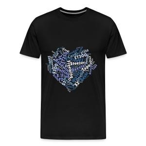 Daelim Modelle in Herzform auf TShirt  - Männer Premium T-Shirt