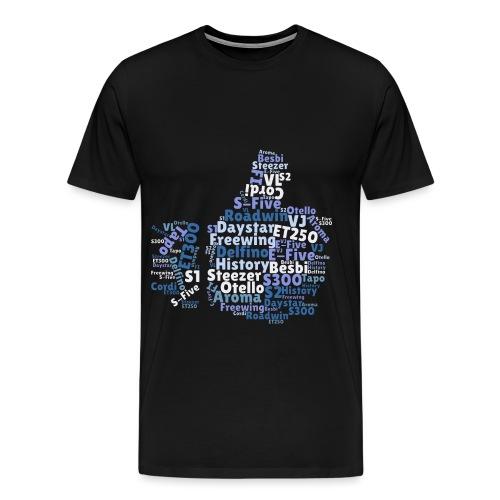 Daelim Modelle in Like-Form auf TShirt  - Männer Premium T-Shirt