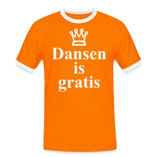 Dansen is Gratis K-Dag Versie - Mannen contrastshirt