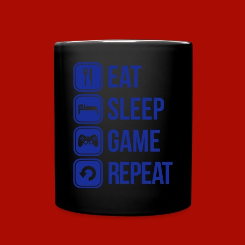 for the gamers that Eat Sleep and Repeat - Full Colour Mug