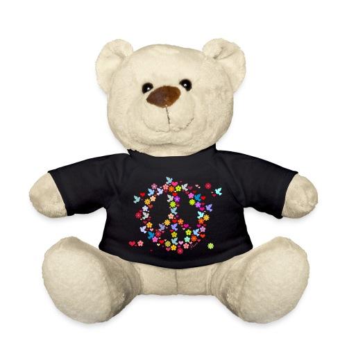 ourson t-shirt noir logo peace - Nounours