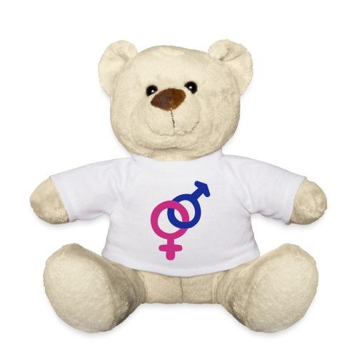 ourson t-shirt blanc logo mâle femelle - Nounours