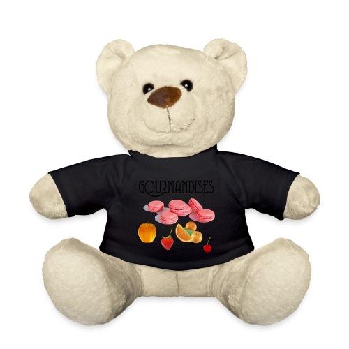 ourson t-shirt noir logo gourmandises - Nounours