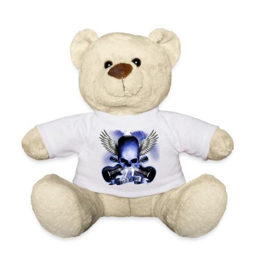 ourson t-shirt blanc logo tête de mort bleutée - Nounours