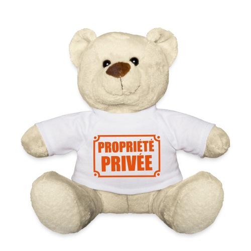 ourson t-shirt blanc propriété privée - Nounours