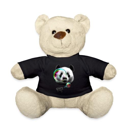 ourson t-shirt noir logo panda - Nounours