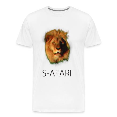 S-AFARI Lion WHITE - Men's Premium T-Shirt