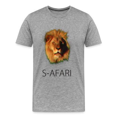 S-AFARI Lion GREY - Men's Premium T-Shirt