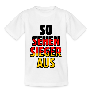 Deutschland Fan Teenager T-Shirt - Teenager T-Shirt