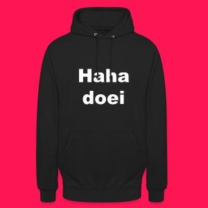 Unisex hoodie 'Haha doei' - Hoodie unisex
