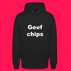 Unisex hoodie 'Geef Chips' - Hoodie unisex