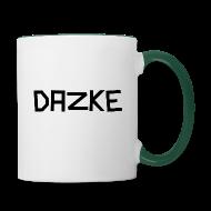 DAZKE Tasse mit grünem Griff