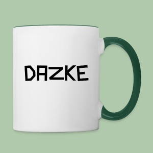 DAZKE Tasse mit grünem Griff - Tasse zweifarbig